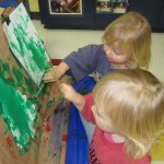 We are not afraid to do messy art at St. Andrew preschool